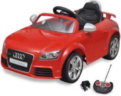 Rode VidaXL Elektrische auto Audi TT RS met afstandsbediening rood