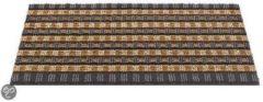 Grijze Deurmatshop.nl Hamat Deurmat Quadro Shape - 50x80 - Graphite