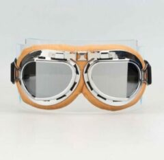 CRG Creme pilotenbril zilver reflectie glas