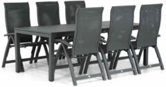 Antraciet-grijze Presto Tarenta/Concept 220 cm dining tuinset 7-delig