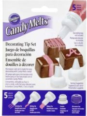 Paarse Wilton Candy Melt Decorating Tip Set/5