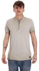 Beige Polo Shirt Korte Mouw Gaudi 011BU64018