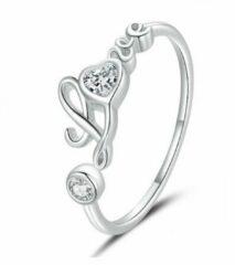 Mijn bedels Sterling zilveren ring Ware liefde