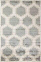 MOMO Rugs - Cosmou Decor Vloerkleed - 140x200 cm - Rechthoekig - Laagpolig Tapijt - Retro, Scandinavisch - Beige, Grijs