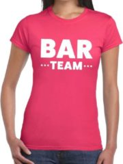 Shoppartners Bar Team tekst t-shirt fuchsia roze dames - personeel / bar team shirt M