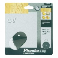 Black & Decker, Piranha BLACK+DECKER Piranha Sägeblatt für Kreissäge, Chrom-Vanadium, 127x12,7 mm K80 X10000-XJ