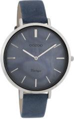 OOZOO Timepieces Horloge Vintage Donker Blauw/Grijs   C9808