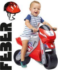 Rode Famosa Feber Racemotor met Helm - Loopmotor