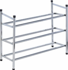 Roestvrijstalen Storage solutions Uitschuifbaar Schoenenrek - van 61 tot 115cm - 3 laags