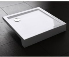 Douche Concurrent Douchebak Best Design Vierkant 100x100x14cm SMC Glans Wit met Verstelbare Potenset