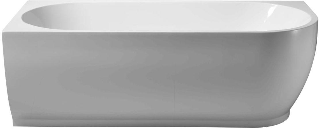 Afbeelding van Douche Concurrent Ligbad Vrijstaand Corner Links Rechthoek Hoekbad 80x180x58cm Glasvezelversterkt Hoogwaardig Acryl Glans Wit met Badwaste en Overloop