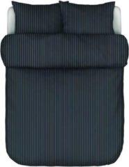 Donkerblauwe Marc O'Polo Mulji dekbedovertrekset van katoensatijn 218TC - inclusief kussenslopen