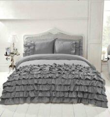 Zilveren Dekbeddenwereld- saint martin Dekbedovertrek-tweepersoons - 200x200/220- 2 kussenslopen 60x70cm - grijs
