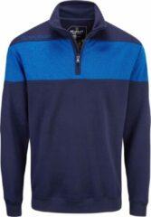 Donkerblauwe Stuburt Heren Evolve Performance 1/4 Zip Golf Sweater - Donker Blauw