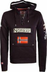 Geographical Norway Hoodie Capuchon Zwart Gymclass
