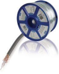Valueline Coaxkabel op Haspel COAX 12 7.0 mm 100 m Grijs