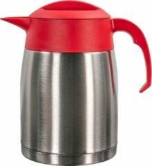 Isoleerkan EasyClean 1,6 liter rvs met rood kunststof dop en handgreep