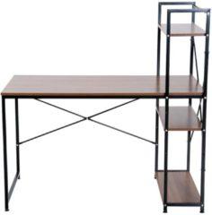 HOMCOM Schreibtisch Computertisch Bürotisch mit Regal Bürotisch Schreibtisch Arbeitstisch PC Tisch