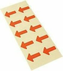 Merkloos / Sans marque Etiket pijl, beschrijfbaar, zelfklevend papier, verwijderbaar, 35 x 25 mm, 10/kaart Rood