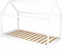 Autre PANDA Shackle kinderbed - Junior stijl - Massief wit grenenhout - Inclusief sparren houten bedframe - B 90 x B 190 cm