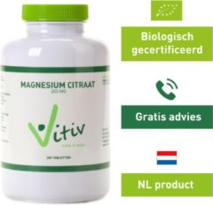 Vitiv Magnesium citraat 200 mg 200 tabletten