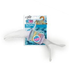 All For Paws Knotty Habit Yarn Feather - Kattenspeelgoed - 20x5x5 cm Wit