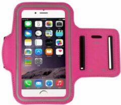 Go Go Gadget Sport Armband - Universeel - Verstelbaar - Hardlooparmband - Spatwaterdicht - Bescherming - Lichtgewicht - 78 x 150 mm (4,7 inch) - Donker Roze