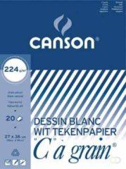 Witte Canson Tekenblok C à grain 224 g/m² formaat 27 x 36 cm