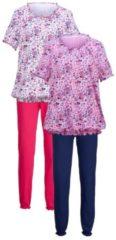 Schlafanzug Harmony cyclam/marine/rose