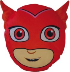 PJ Masks 3D Owlette - Sierkussen - 30 x 26 x 8 cm - Rood