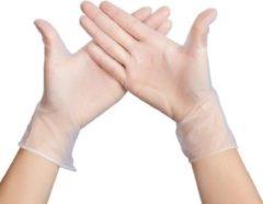 Transparante Plastic wegwerphandschoenen 100 stuks maat M