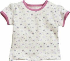 Creme witte Playshoes t-shirt konijntje crème