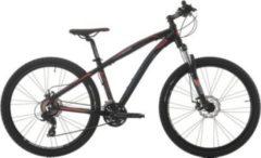 Cicli Cinzia 27,5 Zoll Cinzia Sleek Mountainbike Aluminium 21... schwarz-rot. matt, 39 cm
