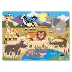 Melissa & Doug houten vormenpuzzel safari 7 delig