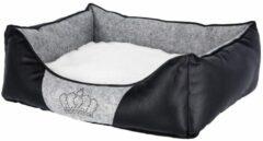 Kerbl Hondenmand Chiara 55x45 cm grijs en zwart 80361
