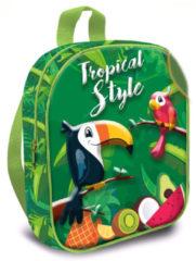 Kids Licensing schooltas Tropical Style 24 cm polyester groen