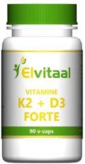 Elvitaal Vitamine K2 + D3 forte 90 Capsules