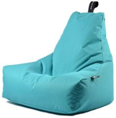Turquoise Extreme Lounging b-bag - Luxe zitzak - Indoor en outdoor - Waterafstotend - 95 x 95 x 90 cm - Polyester - Aquablauw