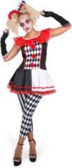 Karnival Costumes Halloween | Halloween kostuum | Harlekijn kostuum voor vrouwen | Rood Zwart | Volwassenen kostuums - XL