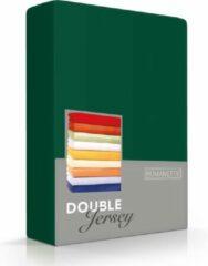 Dubbel Jersy Hoogwaardige Dubbel Jersey Hoeslaken Tweepersoons Botanisch Groen | 140/150/160x200/210/220 | Zacht En Dik | Rondom Elastiek