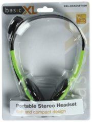BasicXL Headset On-Ear 2x 3.5 mm Ingebouwde Microfoon 2.0 m Groen Headset On-Ear 2x 3.5 mm Ingebouwde Microfoon 2.0 m Groen