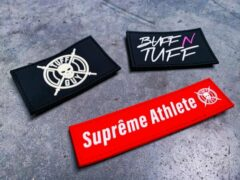 Rode Tuff Guy Sports Tuff Guy - Patches - Velcro- Crossfit - Fitness - Embleem - Rugzak- Riemen- Rubber- Athlete
