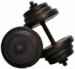 Grijze Verstelbare Dumbbellset Focus Fitness - Totaal 20 kg - 2 x 10 kg