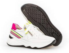 Gabor Sneakers 43 492 23 Wit Neon Verwisselbaar Voetbed 37
