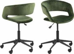 Donkergroene Fyn Gramma kantoorstoel groen.