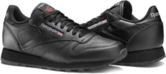 Zwarte Reebok Classics Leather Sneakers Heren - Int-Black - Maat 39
