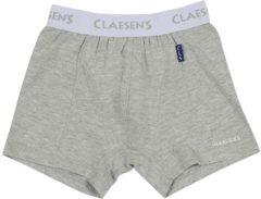 Grijze Claesen's Jongens Boxershort - Grey Melee - Maat 116-122