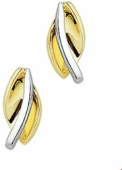 Gele Kasius Trendjuwelier huiscollectie 4205242 Bicolor gouden oorbellen
