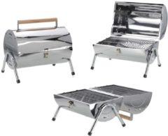 BBQ Collection BBQ - Barbecue - Houtskool barbecue - Cilinder - Chroom