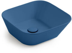 Waskom By Goof Mees Design Opbouw Wastafel Vierkant 42x42 cm Mat Blauw